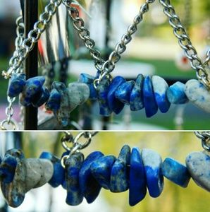 Lapis Lazuli Gem Stone Earrings